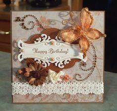 Birthday Card, Shabby Chic using Stampin' Up Something to Celebrate
