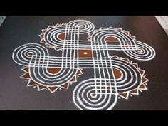 Small Rangoli Design, Beautiful Rangoli Designs, Kolam Designs, Padi Kolam, Kolam Rangoli, Alpona Design, Outdoor Living, Ms, Design Inspiration