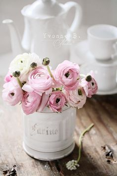 Spring Tea with soft ranunculus | Flickr - Photo Sharing!