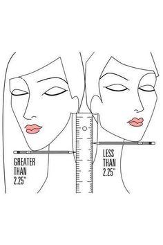 Legen Sie einen Bleistift unter ihre Kinnspitze und messen den Abstand von dort bis zum Ohrläppchen, um zu ermitteln, ob Ihnen eher kurzes oder langes Haar steht. 2,25 Inch entsprechen ca. 5,7 Zentimetern