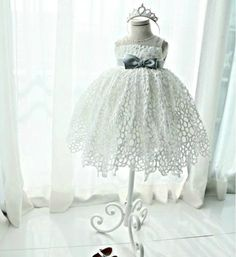 Girly Shop's White Hollow Lace Dress