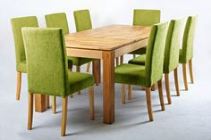 Green Fabric Dining Chairs - Home Furniture Design