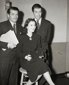 Laurence Olivier, Vivien Leigh and Jimmy Stewart.