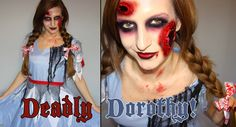 Deadly Dorothy! Glamorous Zombie Halloween Tutorial!