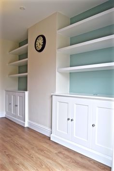 Alcove Cabinets with floating shelves by Cabinet Maker 'Gill Martinez' Living room furniture