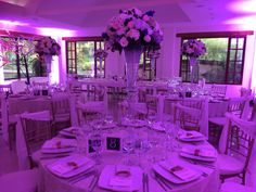 Centros de mesa altos para boda
