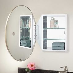 Captivating Bathroom Furniture, Fixtures And Decor. Favaloro Oval Mirror Medicine  Cabinet ...