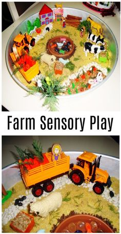Farm Sensory Bin:My daughter felt like she was in a farm and started to play games. She drove tractor, wandered around in the fields and lots of things… you should get started as soon as possible. Have fun! Space Activities For Kids, Space Crafts For Kids, Fish Activities, Sensory Activities Toddlers, Christmas Activities For Kids, Educational Games For Kids, Preschool Activities, Farm Sensory Bin, Sensory Bins