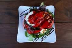 Summer Salad KaseysRVC.com #Kaseys #Kitchen #RVC #LongIsland #delicious #menu #options #comfort #food #Rooftop32 #Summer #Salad #Tomatoes #Mozzarella #Cheese #Lettuce #Balsamic