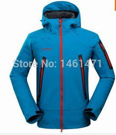 Men s Hiking Jacket Elephant Brand Softshell Jacket Outdoor Sport Jacket  Waterproof Windproof Coldproof For Hiking Camping Ski-in Hiking Jackets d2e5b99e6