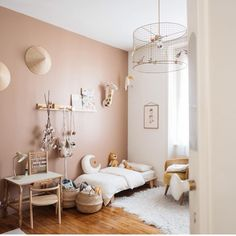 - lit Mum and Dad Factory - chambre d'enfant Baby Bedroom, Girls Bedroom, Sala Grande, Kids Room Design, Little Girl Rooms, Room Inspiration, Room Decor, Home, Geometric Wall
