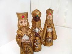 Vintage Wise Men Figurines, Made in Japan, Etsy