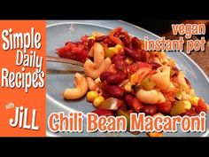Chili Bean Macaroni is SO good, I ate for breakfast TWICE! It kept getting better and better. I found the recipe in Dr. Neal Barnard's book, Breaking the Food Seduction