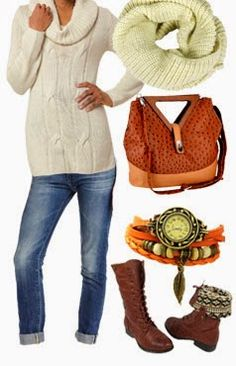 New Women's Clothing Styles & Fashions: Perfect winter outfit with boots 2013