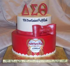 Delta Sigma Theta Sorority Incorporated Cake For Local Chapter