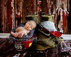 newborn; firefighter