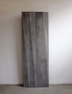 Hours (Working Title), 2011, concrete, 175 x 65 x 9 cm