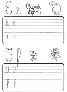 Atividade de caligrafia letras do alfabeto ilustrado - Como Fazer Growth Mindset, Handwriting, Study, Reading, Math Equations, Ruan, Homeschooling, 1, Poetry Activities