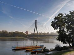 """""""Świętokrzyski is the shortest and most pedestrian-friendly of the bridges over the Vistula in Warsaw"""" (nine in total)"""
