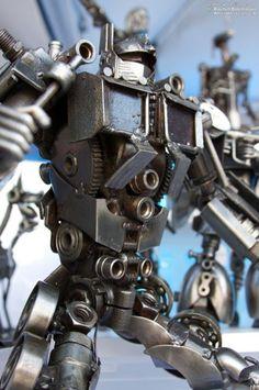 scrap metal robot sculpture - Google Search