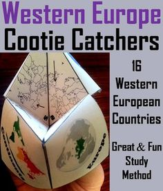 These cootie catchers/ fortune tellers are a great way for students to have fun while learning the countries of Western Europe. How to Play and Assembly Instructions are included.This product includes the following countries:AustriaBelgiumDenmarkFinlandFranceGermanyGreeceIrelandItalyNetherlandsNorwayPortugalSpainSwedenSwitzerlandUnited Kingdom