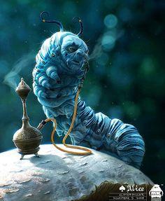 Outstanding Concept Art by Michael Kutsche (Alice in wonderland)