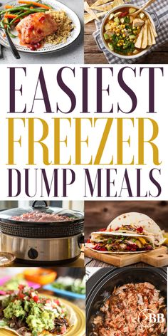 Best Freezer to Slow Cooker Meals (Our Family's Tried and True Favorites) - The Busy Budgeter Crockpot Dump Recipes, Slow Cooker Freezer Meals, Easy Freezer Meals, Dump Meals, Crock Pot Slow Cooker, Slow Cooker Recipes, Beef Recipes, Freezer Cooking, Easy Dinners
