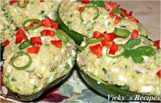 Salată rapidă de ton cu avocado – Vicky's Recipes Jacque Pepin, Salmon Burgers, Potato Salad, Zucchini, Nutrition, Sweets, Vegetables, Cooking, Ethnic Recipes