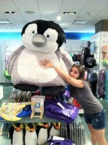 huge penguin stuffed animal. i want this.
