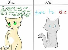 Thrushpelt deserves all the happiness in the world Warrior Cats Comics, Warrior Cats Funny, Warrior Cat Memes, Warrior Cats Books, Warrior Cat Drawings, Warrior Drawing, Warrior Cats Art, Cat Comics, Warriors Memes