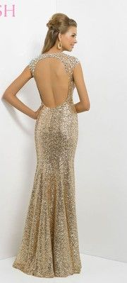 Strapless Gold Sequin Gown JVN by Jovani | Trumpet, Wallets and ...
