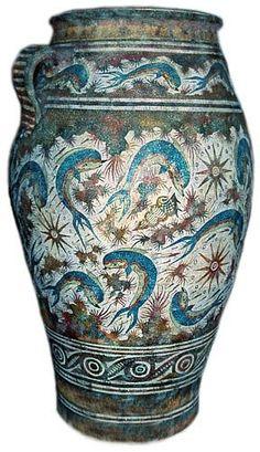 Minoan Dolphin Vase from Crete