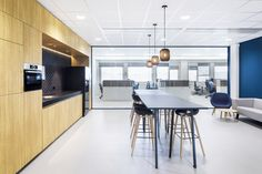 TNO Helmond – Automotive Campus by Hollandse Nieuwe - Office pantry Pantry, Conference Room, Table, Furniture, Home Decor, Homemade Home Decor, Butler Pantry, Meeting Rooms, Mesas