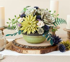 DIY Outdoor Dining Floral Paper Centerpiece Party Decor. Make It Now in Cricut Design Space