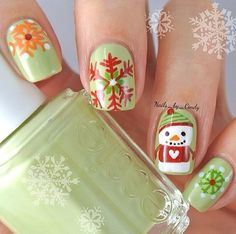 Christmas Nail Art I saw on Instagram