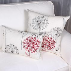 ANGELIQUE cushion is made of French printed linen. You will be charmed by its colors of grey and raspberry on a natural off white ground. Printed Linen, Bed Pillows, Prints, Color, Throw Pillows, Pillows, Printed, Colour, Art Print
