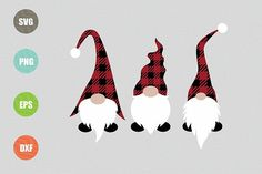 Christmas Gnomes Design (Graphic) by · Creative Fabrica Christmas Gnome, Christmas Crafts, Plaid Christmas, Retro Flowers, Vinyl Projects, Sewing Projects, Design Bundles, Design Crafts, Svg Files For Cricut