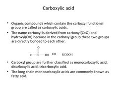 Carboxylic acid Oxalic Acid, Acetic Acid, Sodium Hydroxide, Sodium Bicarbonate, Carbonated Soft Drinks, Hydrogen Bond