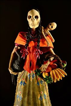 Madre Catrina Holding Turkey by Emilio #dayofthedead #mexico