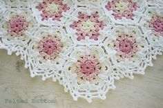 Crochet Pattern Baby Blanket Vintage Fleur Shabby by FeltedButton