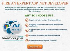 Looking Best ASP.Net Programmer and Developers?? Hire ASP.Net developers from India's leading #webdevelopment. Save money and increase profitability. Know more check the inforgraphics @ https://magic.piktochart.com/output/12469562-hire-expert-asp-net-developer