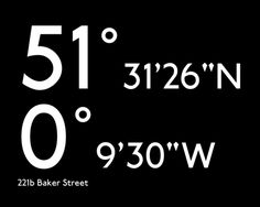 That's the latitude and longitude of 221b Baker Street. Never thought of Baker Street that way, but found it to be interesting. ;-)