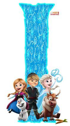 Frozen Birthday Theme, 1st Birthday Party Themes, Birthday Cake, Cartoon Letters, Cartoon Art, Tarta Frozen Disney, Frozen Bebe, Elsa, Mickey Mouse And Friends