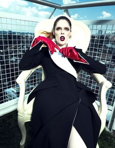 Coco Rocha by Yin Chao for Harper's Bazaar China September 2013