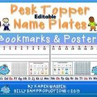 $ Everything You Need on a Desk Topper for Primary Students! This is an EDITABLE VERSION! Type your class names!  LARGER Desk Topper! Large # Line for Easy # Line Jumping! 120 Chart plain and Color- Coded for Odd/Even! A Short Vowel Chart & Long Vowel Chart! An Upper/Lower Case alphabet! An Attention Grabber from Silly Sam too! Also included are Bookmarks & Classroom Management Posters.  This one has it all!