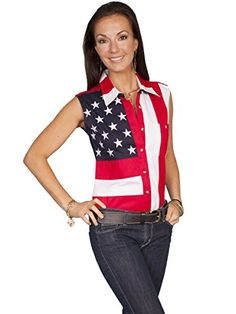 Rangewear By Scully Women's Patriotic Sleeveless Top Red Large Scully http://www.amazon.com/dp/B0058SB5DU/ref=cm_sw_r_pi_dp_qjo1wb01PMNRV