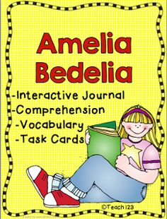 Fun with Amelia Bedelia! TASK CARD CENTER -30 task card questions -30 task card answer keys -12 recording sheets READING COMPREHENSION -6 Worksheets and answer keys -18 question signs -18 answer key signs INTERACTIVE JOURNAL PRINTABLES -Read and Tell - Beginning, middle and end of story -3 pages - Expressions - Compare the meaning of Amelia and Mrs. Rogers definition of different expressions -5 pages - Vocabulary $