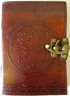 Celtic Knot Leather w/ Latch Blank Journal