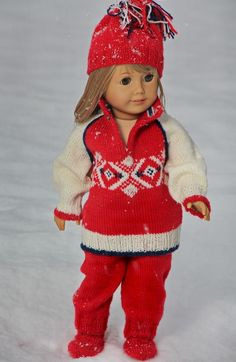 "This patterns fits 17"" - 18"" dolls like American Girl doll, Baby born and Alexander doll. Design: Målfrid Gausel"