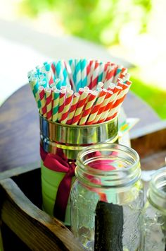 Paper straw decor